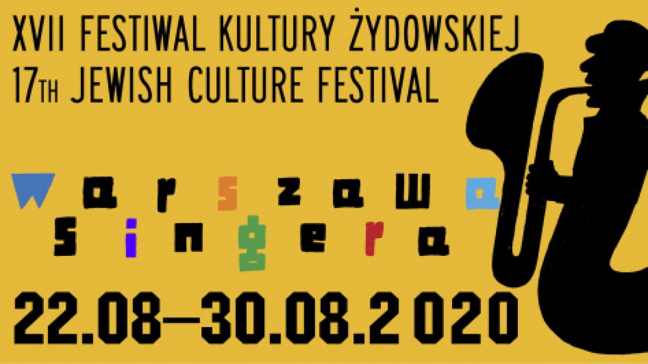 grafika zapraszająca na festiwal Warszawa Singera 2020