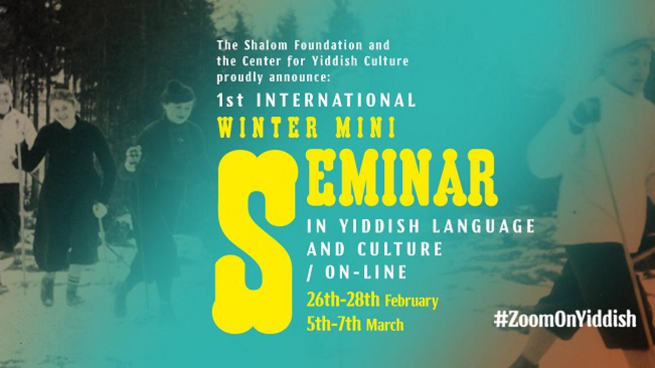 grafika zimowego mini-seminarium jidysz